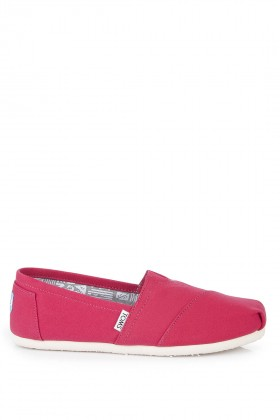 Toms - Classic Barberry Pink Canvas Espadril