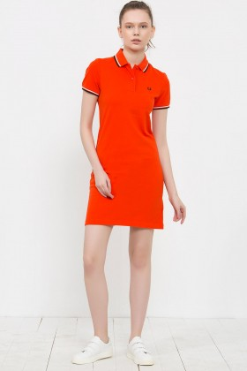 Fred Perry - Fred Perry Turuncu Elbise