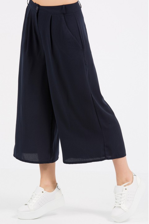 Lidyana Pop-Up Store Urban Lacivert Culottes Pantolon