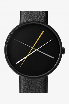 Projects Watches - Projects Watches Crossover Black Leather Kol Saati Unisex Kol Saati