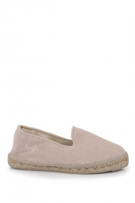 Manebi - La Havana Stone Washed Canvas Pastel Rose Espadril