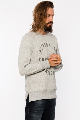 Jack & Jones - Jcosharp Açık Gri Sweat Hood/Crew Neck