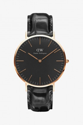 Daniel Wellington - Daniel Wellington Men Classic Black Reading Rose Gold 40Mm