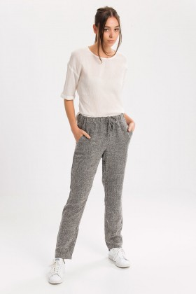 Vero Moda - Zen Normal Bel Gri Pantolon