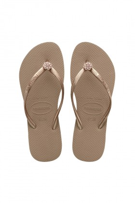 Havaianas - Hav. Slım Crystal Poem Rose Gold/Metallıc Rose Gold