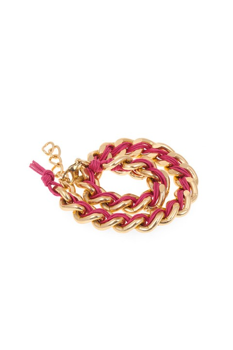 Chain Reaction Pembe Chain Lux Bileklik