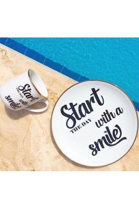 Gavia - Motto Porselen Kupa-Start The Day With A Smile