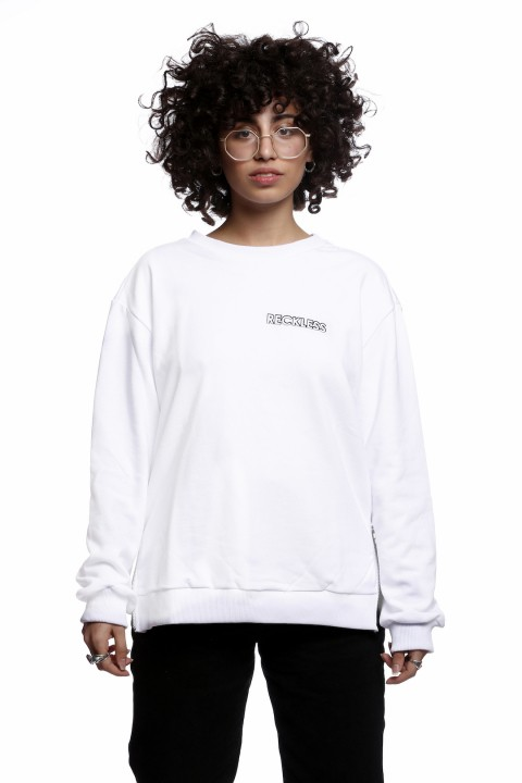 Tou Clothing Reckless Beyaz Sweatshirt