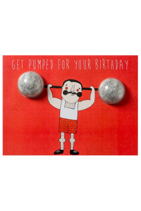 Bomb Cosmetics Get Pumped For Your Birthday Blaster Card
