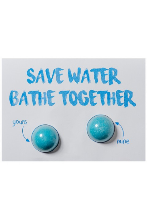 Bomb Cosmetics Save Water, Bath Together Blaster Card