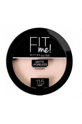 Maybelline - Maybelline New York Fit Me Matte+Poreless Pudra - 115 Ivory
