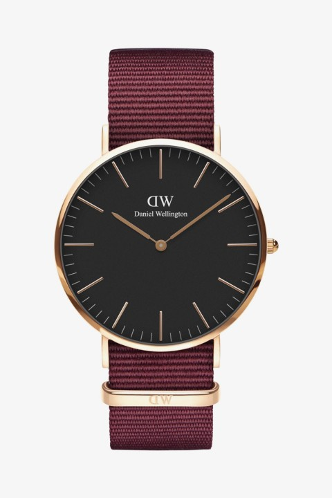 Daniel Wellington Daniel Wellington Women Classic Black Roselyn Rose Gold 40mm