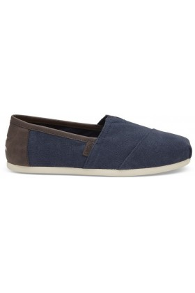 Toms - Navy Wash Canvas/Trim Men Alpargata