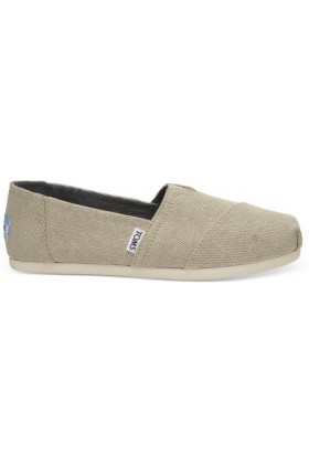 Toms - Natural Metallic Linen Women Alpargata