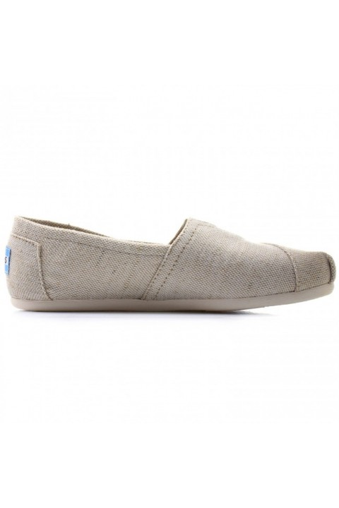 Toms Natural Metallic Burlap Women Alpargata
