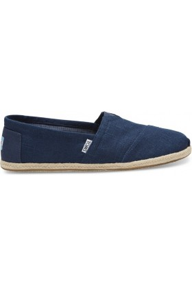 Toms - Navy Linen Rope Men Alpargata