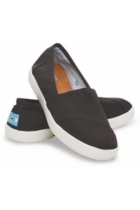 Toms Black Nylon Women Avalon Sneaker