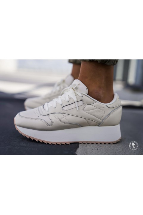 Reebok Cl Lthr Double Chalk/Bare Beige
