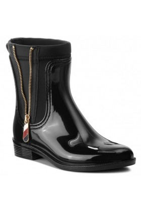 Tommy Hilfiger - MATERIAL MIX RAIN BOOT