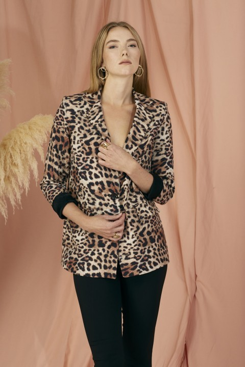 Lidyana Collection Leopar Blazer