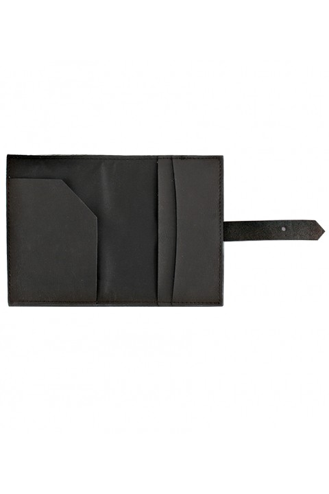 Le Color  Le Color Leather Passaport Case Black