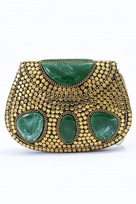 G. I. Bag - Gold'N Green Clutch