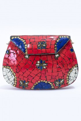 G. I. Bag - Mosaic Red Clutch