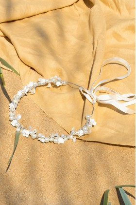 Beril Kin Design - Pearl Flower Bridal Headpiece