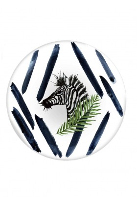 Fern&Co. - Fern&Co 4'lu Serengeti Collection The Unique Zebra Buyuk Tabak Seti