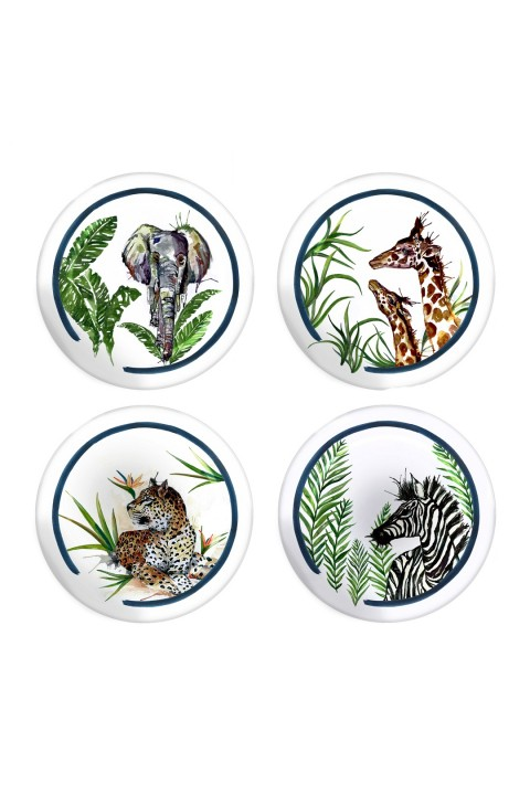 Fern&Co. Fern&Co 4'lu Serengeti Collection The Wild Mix Kucuk Tabak Seti