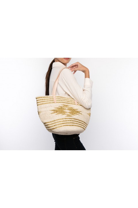 Larone by Bengartisans Gold Bleach Tote