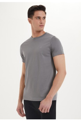 Westmark London - Essentials O-Neck T-Shirt İn Charcoal Grey Gri T-Shirt