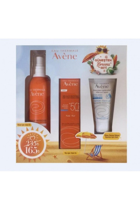 Avene AVENE Güneşten Korunma Seti (Fluide SPF50+ 50 ml, Spray SPF50+ 200 ml & After Sun 50 ml)