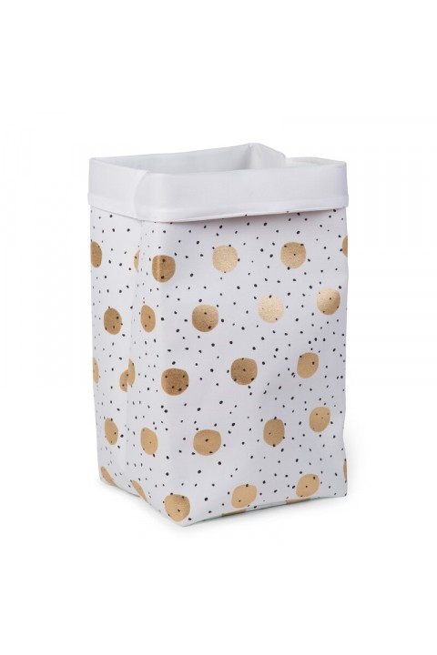 Childhome Kanvas Kutu 32X32X60, Gold Dots