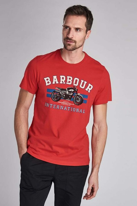 Barbour International B.Intl Bracket T-Shirt  Lava