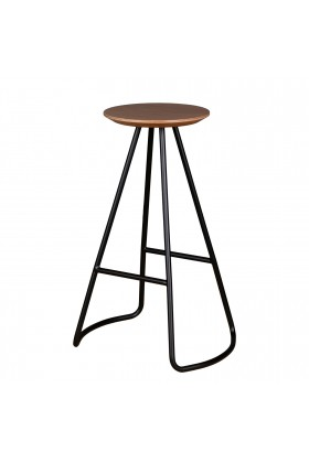 Studio Kali - Sama High Stool Oak-Black Tabure