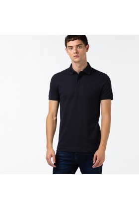 Lacoste - Lacoste Erkek Regular Fit Lacivert Paris Polo