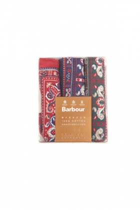 Barbour - Barbour Spotted Hankies MI11 B Red