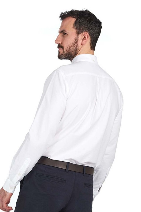 Barbour Barbour Oxford 3 Tailored Fit Gömlek WH11 White