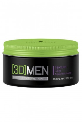 3d Men	 - Schwarzkopf 3D Men Texture Clay Şekillendirici Mat Wax 100ml