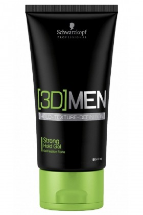 3d Men	 - Schwarzkopf 3D Men Strong Hold Gel Güçlü Tutucu Jöle 150ml
