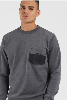 Tbasic - Flexi Cepli Basic Sweatshirt - Antrasit