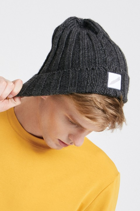 Mubu İstanbul Knitted Beanie Anthracite