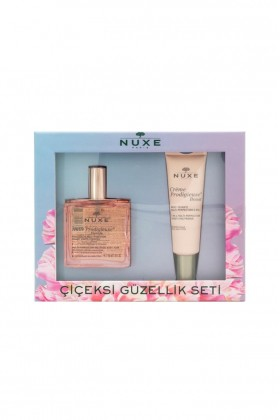 Nuxe - Nuxe Huile Floral Scent Pink Dry Oil 50 ml Bakım Seti