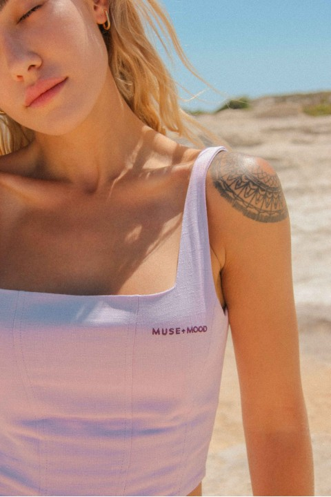 Muse and Mood Melpomene Bustier Lilac
