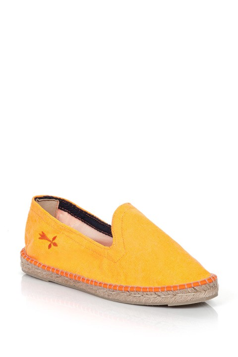 Manebi Ibiza Neon Canvas Fluo Orange Espadril