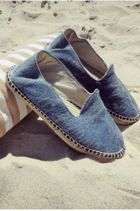Manebi - La Havana Stone Washed Canvas Blue Baja Espadril